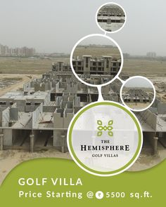 The Hemisphere #GolfVilla construction updates This luxury project located near Pari Chowk * Opp. Alpha2 #Metro Station * 30 min. from Upcoming Jewar #Airport * #Golf Club in #property