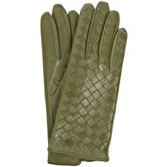 All Gloves Cactus Basketwoven Leather Gloves, Polyvore