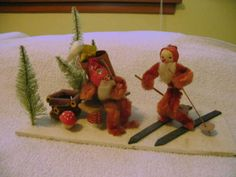 vintage-Christmas-chenille-bottle-brush-pipe-cleaner-mushroom-Japan-decoration