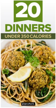 Enjoy 20 healthy dinner recipes without fearing what the scale says the next time you step on it! These low-calorie (and delicious) dinners all clock in at under 350 calories — perfect for keeping you on track with your weight loss goals — but without leaving you hungry. Popculture.com #dinnerideas #dinnerrecipes #healthyeating #healthyliving #familydinner #easyrecipes #healthyrecipes #lowcaloriedinners #lowfatdinner #350calories #chickendinner #weeknightdinner #healthydinner