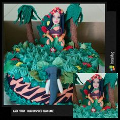 Katy Perry - Roar inspired bday cake