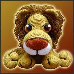 Amigurumi Pattern Crochet  Leonidas The Lion door DeliciousCrochet, $6.20