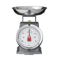 Use our GREY METAL KITCHEN SCALE to measure out ingredients for your next baking day. This metal kitchen scale has a three kilogram capacity and a removable stainless steel bowl for easy cleaning. Caractéristiques Des Balance, Rustikalen Shabby Chic, Digital Kitchen Scales, Stainless Steel Bowl, Kitchen Timers, Food Scale, Cooking Timer, Kitchen Accessories, Kitchen Gadgets