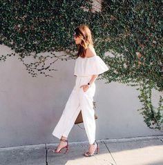 8 maneiras de usar look total branco no verão