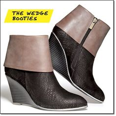 mark. CUFF CHIC BOOTIES* • Take a look to new heights—with no fear of teetering! • Feature a stunning mashup of colorblocking and mixed textures accented with supercool silvertone detail http://jgoertzen.avonrepresentative.com/