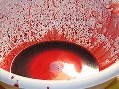 Kunstblut kochen - hier das Rezept