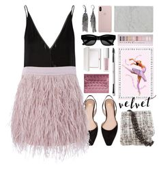 """""""love ballet"""" by foundlostme ❤ liked on Polyvore featuring Gabriela Hearst, SuperTrash, Chanel, Forever 21, RMK, Christian Louboutin, Sun Buddies, Simply Vera, Mikol and velvet"""