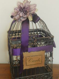 Beautiful Black/Copper Wedding/Birdcage/Card Holder by YesMoreFunk, $55.00