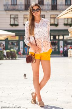 #shorts elegant look #summerfashion, photo by Street Style Seconds