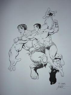 Namor vs Hulk  Jim Starlin Comic Art