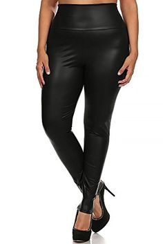World of Leggings PLUS SIZE Matte High Waisted Faux Leather Leggings - Black 3XL. Ships from Our Warehouse in Los Angeles, California. Full Length Women's Leggings Ideal for Fashion, Evening Casual, Dancewear or Nighclub. Hand Wash or Professional Wash. Gorgeous Women's Fashion Leggings with Amazing All Day Comfort. Superior Quality Leg Fashion Ideal for Any Season and Easy Mixing and Matching.