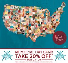 LAST DAY! Save 20% on Decorative Table Lamps, Canvas Wall Art, Contemporary Designer Wall Decals, Oversize Wall Murals with our Memorial Day Sale. Plus, FREE s on orders over $48.