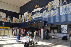 Gare, Fresque, Interieur