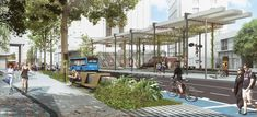 Colectivo 720 + De Arquitectura y Paisaje, segundo lugar en concurso de espacio público en la avenida Sexta de Cali, Colombia,Cortesía de Equipo Segundo Lugar Cali Colombia, Street View, Landscape, Space, Pageants, Private Property, Urban Landscape, Advertising, Parks