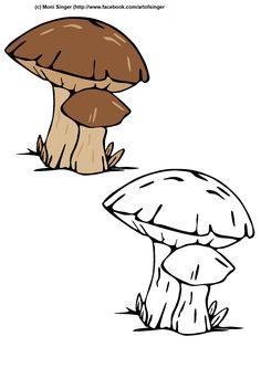 Silhouette plotter file free, Plotter Datei kostenlos, plotter freebie, Herbst, Pilz, autumn,  mushroom