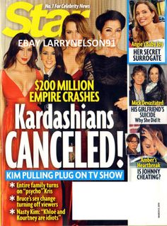 STAR MAGAZINE MARCH 31 2014 KARDASHIANS CANCELED JOHNNY DEPP MICK JAGGER MADONNA