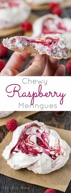 Light and crunchy on the outside, soft and chewy on the inside. These chewy meringues are the perfect sweet treat.   livforcake.com