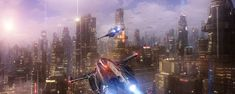 concept ships: Spaceship art by Angel Alonso Futuristic City, Futuristic Architecture, Science Fiction Art, Science Art, These Broken Stars, Techno Gadgets, Sci Fi City, Cities, Spaceship Art