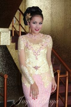 beautiful kebaya modern pink indonesia