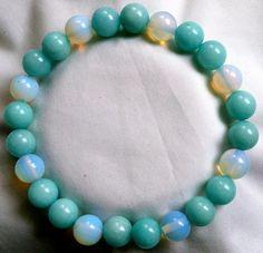 Amazonit Mondstein Heilstein Perlen Armband