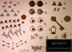 '50+ Charm Cuties! birds/sparrows, arrows, etc.' is going up for auction at  5pm Thu, Jul 26 with a starting bid of $5.