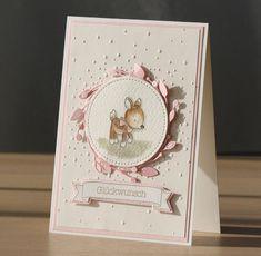 Baby- & Geburtskarten – Babykarte, Karte zur Geburt eines Mädchens – ein Desig… – Bébés et soins de bébé - Geprägte karten Diy Cards Baby, New Baby Cards, Kids Cards, Stampin Up Karten, Stampin Up Cards, Baby Scrapbook, Scrapbook Cards, Baby Shower Souvenirs, Dou Dou