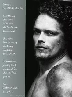 It's #WorldOutlanderDay Thank you to @SamHeughan from me & Outlander Fans everywhere! (by @ Frasers_Ridge)