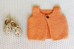 Knit Baby Girl Vest, Hand Knit Baby Sweater, Wool Vest