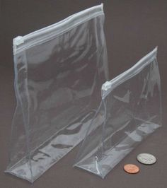 Plastic bags go in various sizes and shapes. But nowadays vacuum bags (Vakuumbeutel) are more popular in the world of packaging because it's available with ziplock and protect the product from outside atmosphere.