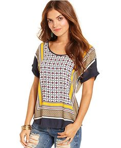 Lucky Brand Scarf Print Top | Swim/Summer Clothes | Pinterest ...