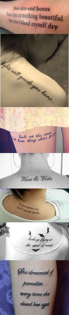 Coldplay tattoos. I need all of them.