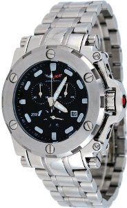 Corvette #CR220-M Men's Stainless Steel Black Dial Swiss Chronograph Watch Corvette. $229.95. Precise Swiss Quartz Movement. Mineral Crystal, Day/Date Display, Chronograph Functions, Luminous Hands and Markers. Water Resistant - 50M, Screw Down Case Back. Case Size:  46mm Diameter, 14mm Thickness. Stainless Steel Case and Band, Butterfly Push Button Deployment Clasp