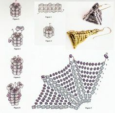 Schema for Pyramid of increasing inclusions.  #Seed #Bead #Tutorials