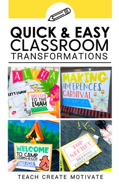 Switch things up and break away from the usual routine with these quick and easy room transformations! 4th Grade Classroom, Classroom Themes, Classroom Organization, Classroom Management, Organization Ideas, Marketing Plan, Marketing Strategies, Business Marketing, Content Marketing