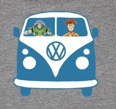 VW Kombi Van Woody Buzz T-Shirt Ages Sizes 2-14 New