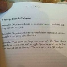 A Message from the Universe / Yolo Akili