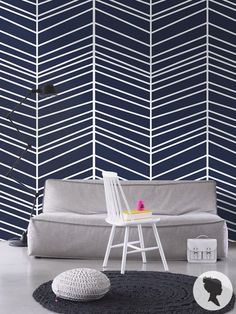 some tape to the wall and then paint over it! (or just buy Herringbone Pattern Self Adhesive Vinyl Wallpaper D098 by Livettes, $34.00)