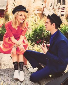 """She's the sun, and she's got such depth. She can do anything. She's magic."" - Andrew Garfield on Emma Stone"