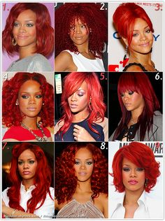 rihanna/red hair-very pretty
