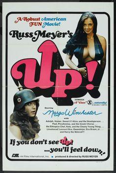UP 1976 Russ Meyer Exploitation Movie Movie Poster Art, Poster S, Vintage Movies, Vintage Posters, Russ Mayer, Greek Chorus, 1976 Movies, Long John Silver, Online Posters
