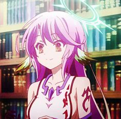 Jibril is kawaii but when u see the movie you'll look at her differently. Anime Gifs, Manga Anime, Anime Art, Otaku Anime, Games Memes, Nogame No Life, Another Anime, Animes Wallpapers, Kingdom Hearts
