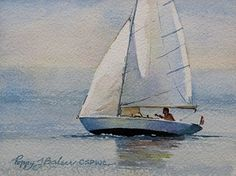 Bareback Sailor by Poppy Balser Watercolor ~ 5 x 7