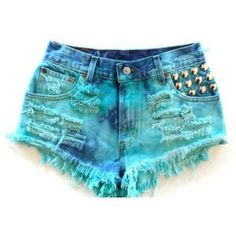 High Waisted Jeans and Shorts Diy Shorts, Tie Dye Shorts, Levi Shorts, Cute Shorts, Short Shorts, High Rise Shorts, High Waisted Shorts, Kawaii Clothes, Jean Outfits