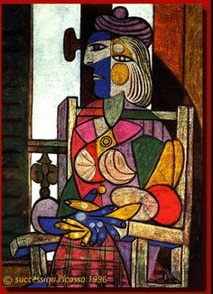 Pablo Picasso, Marie-Thérèse Seated, 1937  Oil and pastel on canvas