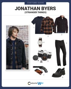 Find a costume like Jonathan Byers, the oldest son of Joyce Byers and older brother of Will Byers from Stranger Things.