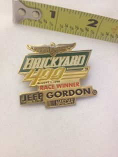 Brickyard 400 August 1 Jeff Gordon NASCAR Lapel  / Hat Pin 1998 Racing