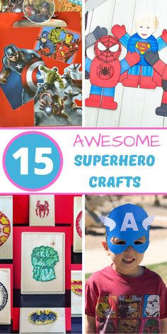 These superhero crafts for kids are really amazing, totally fun, and will make your kids feel like the superhero they are! Here are 15 of the best superhero crafts that your kids can make! If your kids love superheros, let them express themselves by making one of these fun superhero crafts. #crafts #craftsforkids #kidscrafts #superhero #kidsactivities Superhero Theme Party, Best Superhero, Toilet Paper Roll Crafts, Easy Paper Crafts, Rainy Day Crafts, Homemade Playdough, Crafts For Kids To Make, Toddler Crafts, Holiday Crafts