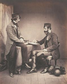 Dr Sutherland and Robert Rawlingson of the Sanitary Commission, 1855…
