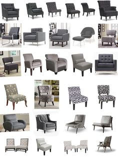 Grey Upholstered Chairs and Slipcovers www.UpholsterEase.com