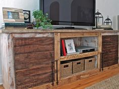 ENTERTAINMENT CONSOLE by architecturalwaste on Etsy, $1550.00